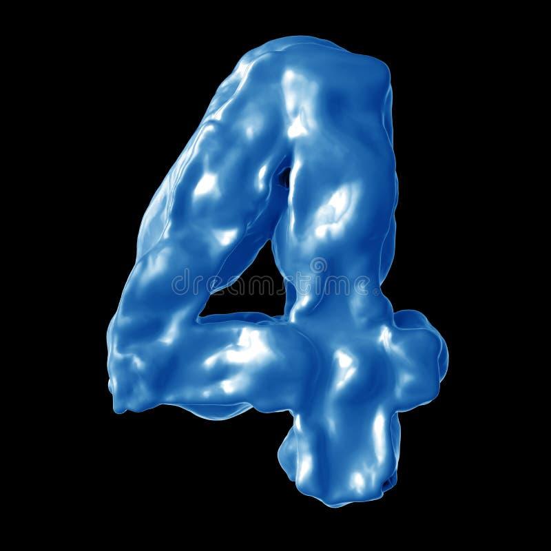 Leche del azul del número 4 fotos de archivo