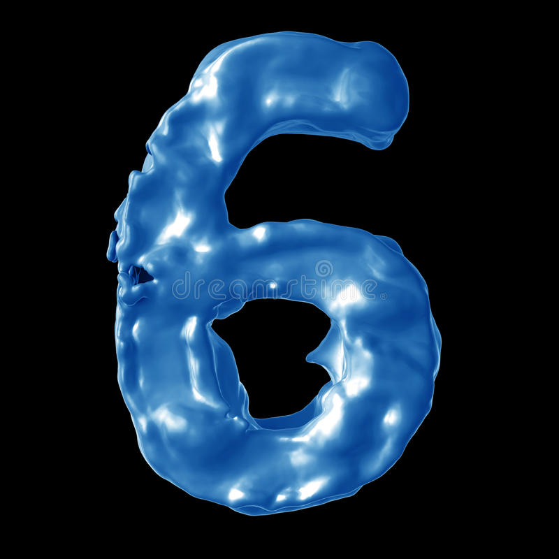 Leche del azul del número 6 fotografía de archivo