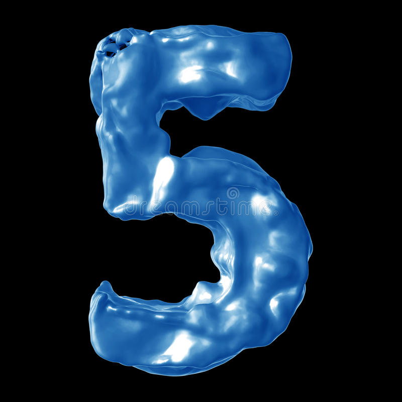 Leche del azul del número 5 foto de archivo