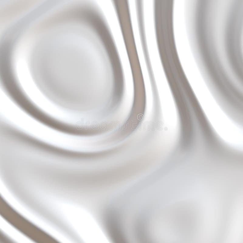 Leche o crema azotada stock de ilustración