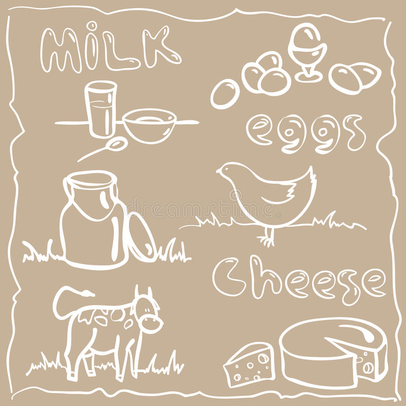 Leche y productos agrícolas imágenes de archivo libres de regalías