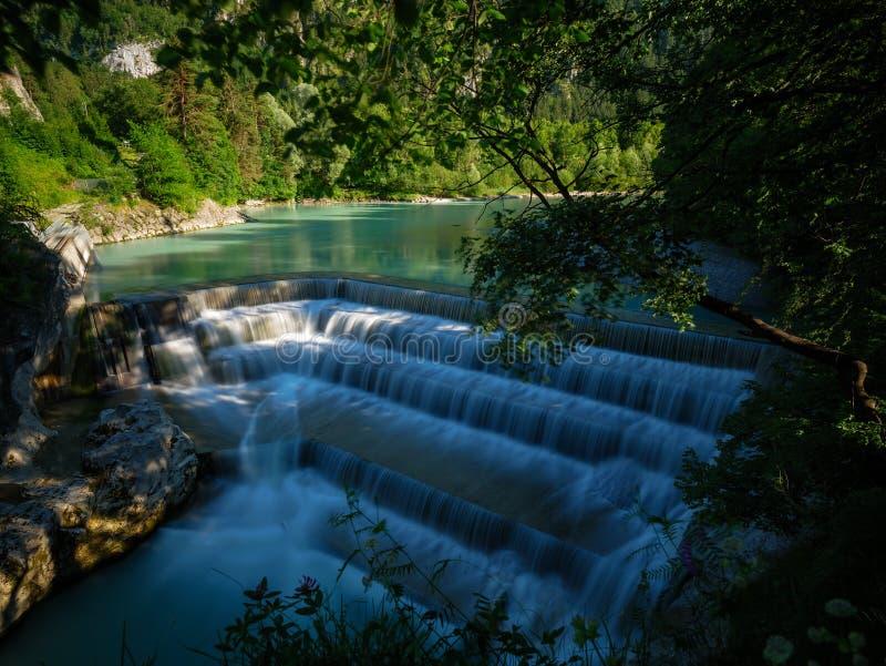 Lechfall in ¼ Deutschlands Pfronten FÃ ssen Wasserfall lizenzfreies stockfoto