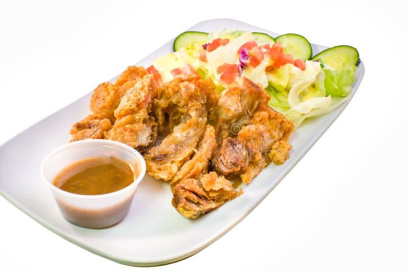 Lechon Kawali, pentola filippina ha arrostito il piatto della carne di maiale fotografie stock