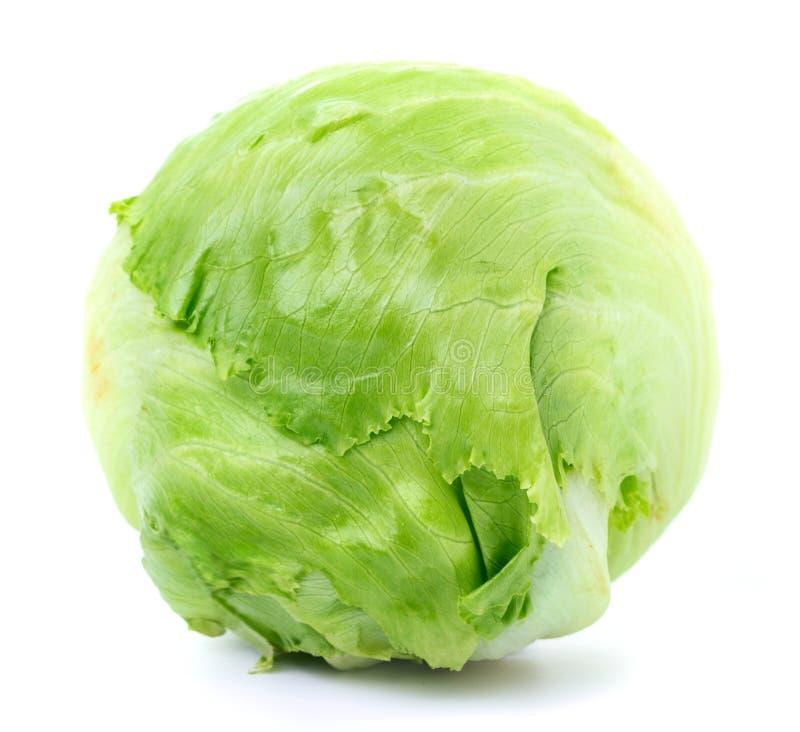 Lechuga de iceberg verde fotografía de archivo libre de regalías