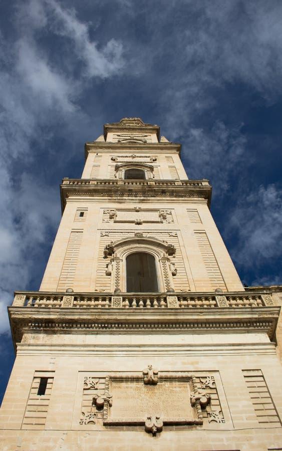 Lecka katedry wierza, Italy fotografia stock