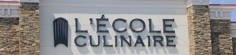Lecole Culinaire学校标志 图库摄影