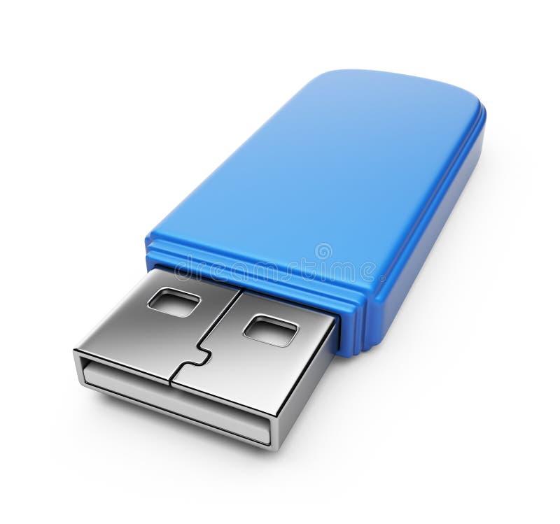 Lecteur bleu 3d d'instantané d'USB.   illustration de vecteur
