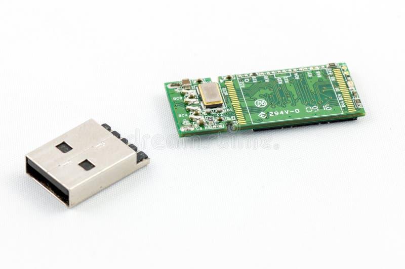 Lecteur cassé d'instantané d'USB photos stock