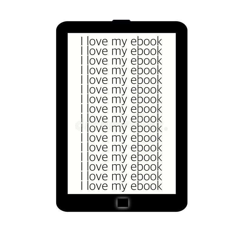Lecteur d'Ebook illustration de vecteur