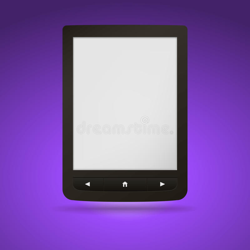 Lecteur d'EBook. Vous pouvez ajouter votre propre texte ou illustration de vecteur