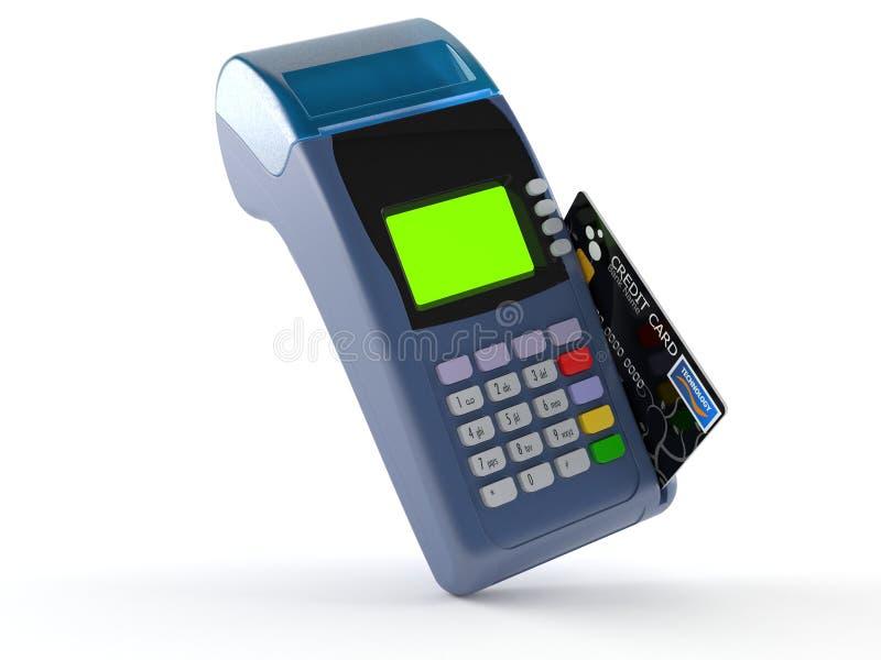Lecteur de carte de crédit illustration libre de droits