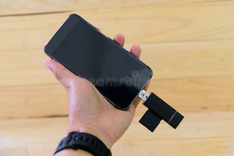 Lecteur de cartes d'USB pour le mobile images stock