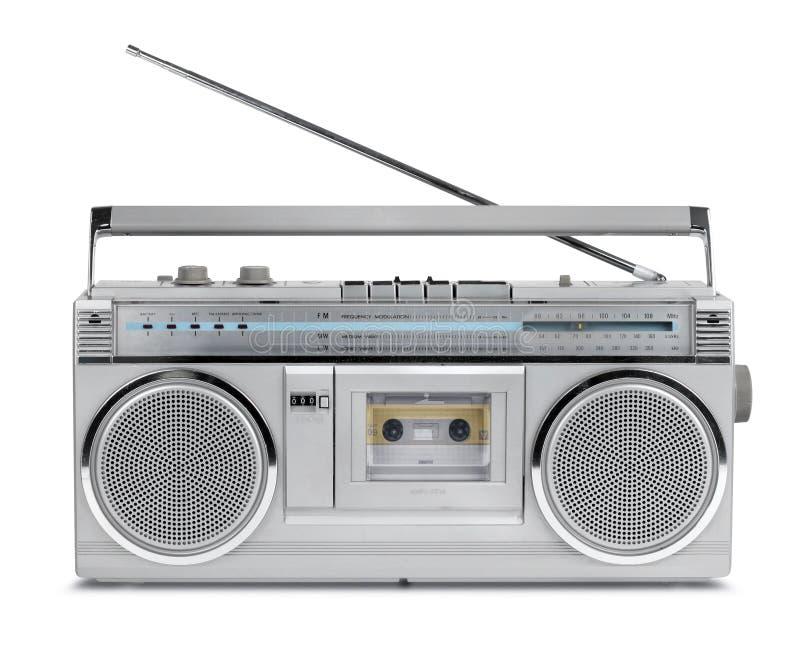 Lecteur de cassettes de radio de vintage d'années '80 images stock