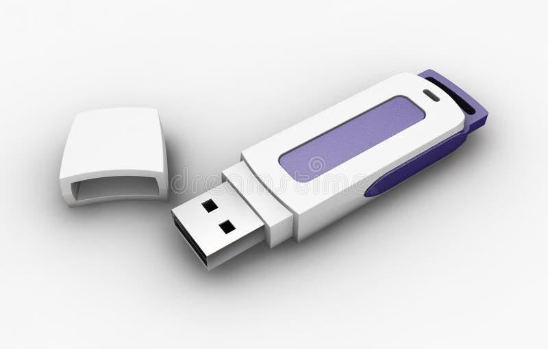 Lecteur de crayon lecteur d'USB illustration libre de droits