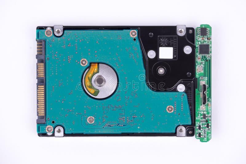 Lecteur de disque dur d'isolement sur le fond blanc photographie stock