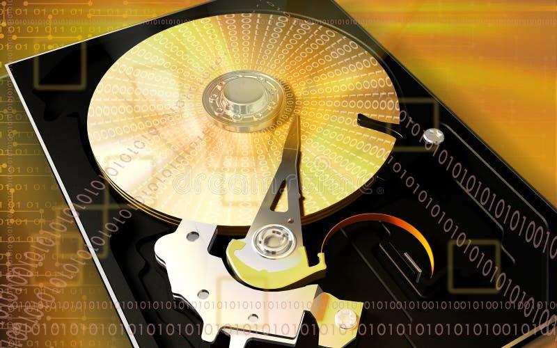 Lecteur de disque dur d'ordinateur illustration de vecteur