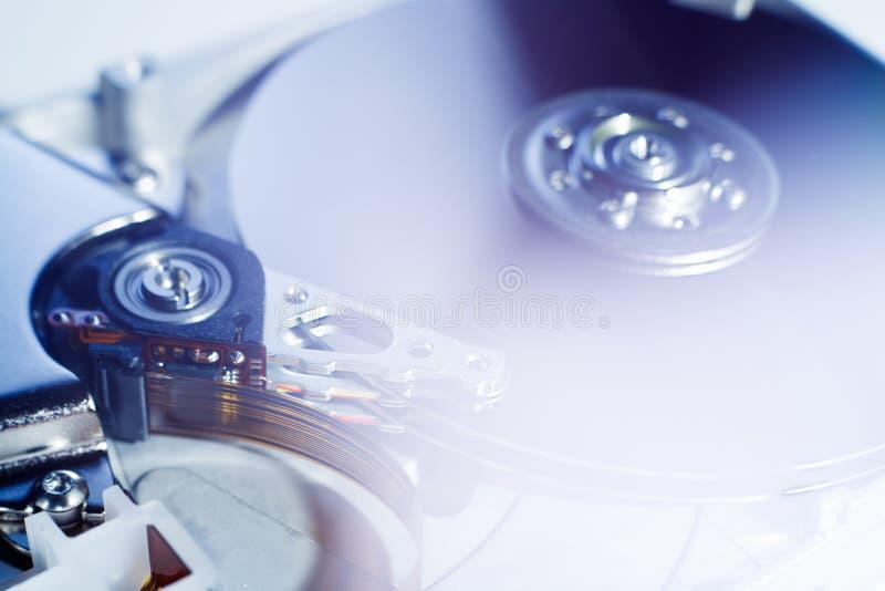 Lecteur de disque dur ouvert photographie stock