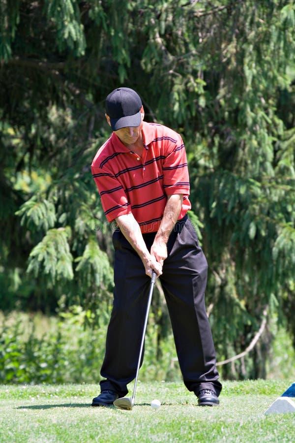 Lecteur de golf image stock