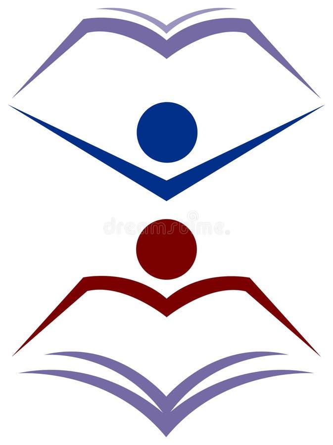 Lecteur de livre illustration libre de droits