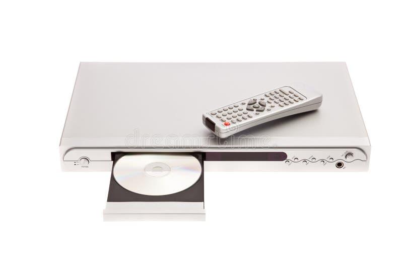 Lecteur DVD éjectant le disque avec à télécommande photo stock