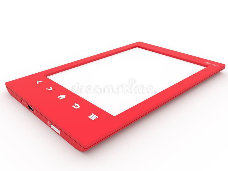 Lecteur rouge d'Ebook photo stock