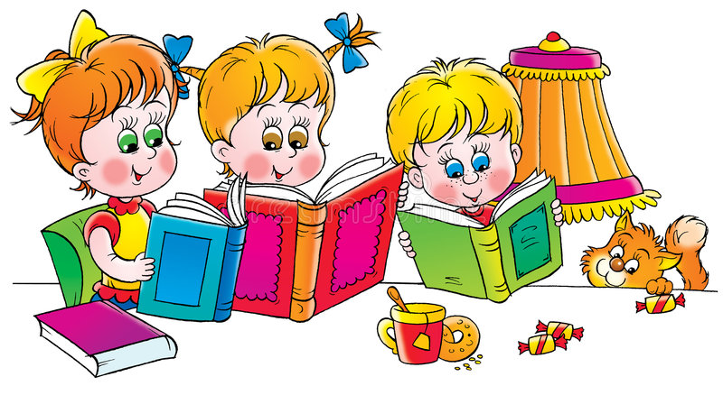 Lecteurs illustration stock