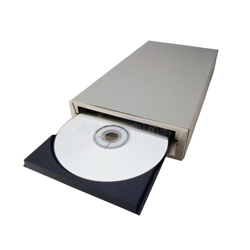 Lector de CD-ROM abierto imagen de archivo