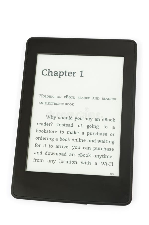 Lector de EBook imagen de archivo