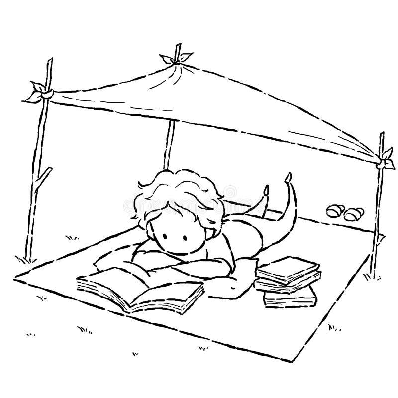 Lectura ilustración del vector