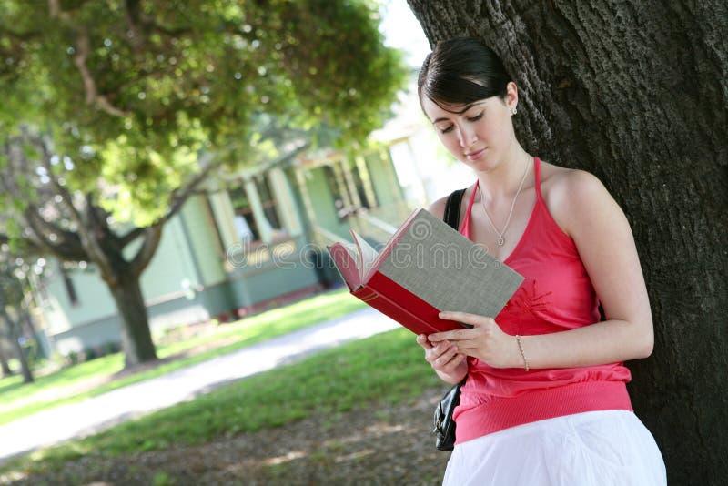 Lectura de la chica joven imagenes de archivo