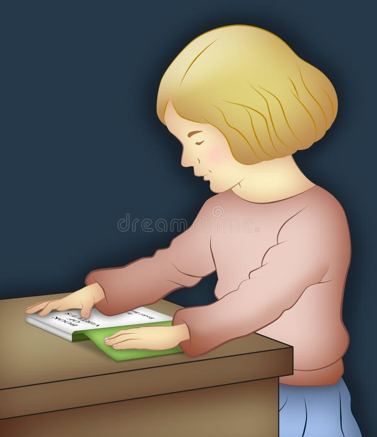 Lectura de la muchacha libre illustration