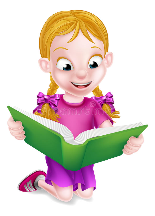 Lectura de la niña libre illustration