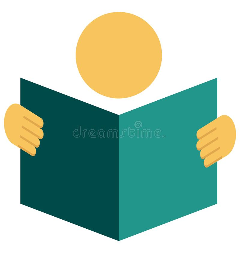 Lectura del icono aislado del vector del color fotos de archivo libres de regalías