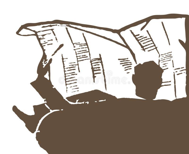 Lectura del periódico imágenes de archivo libres de regalías