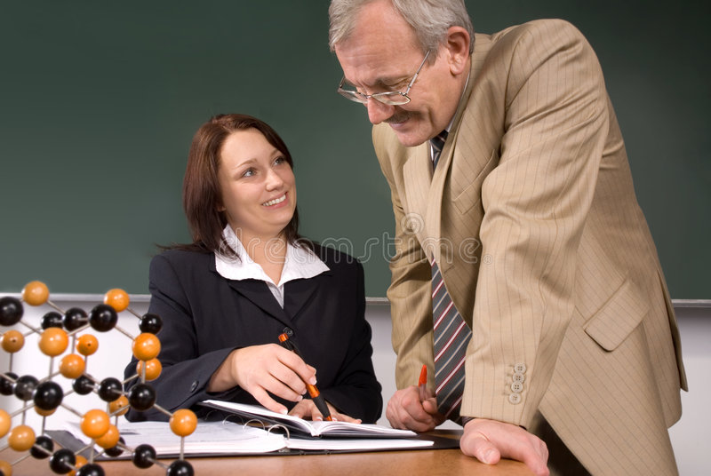 Download Lecture stock photo. Image of female, chemical, classroom - 6971142