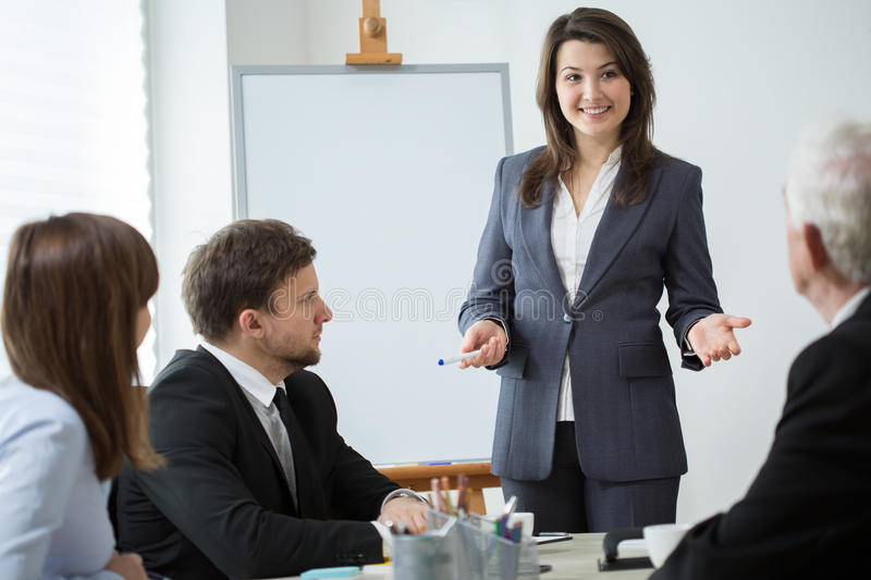 Lecturing the presentation royalty free stock image