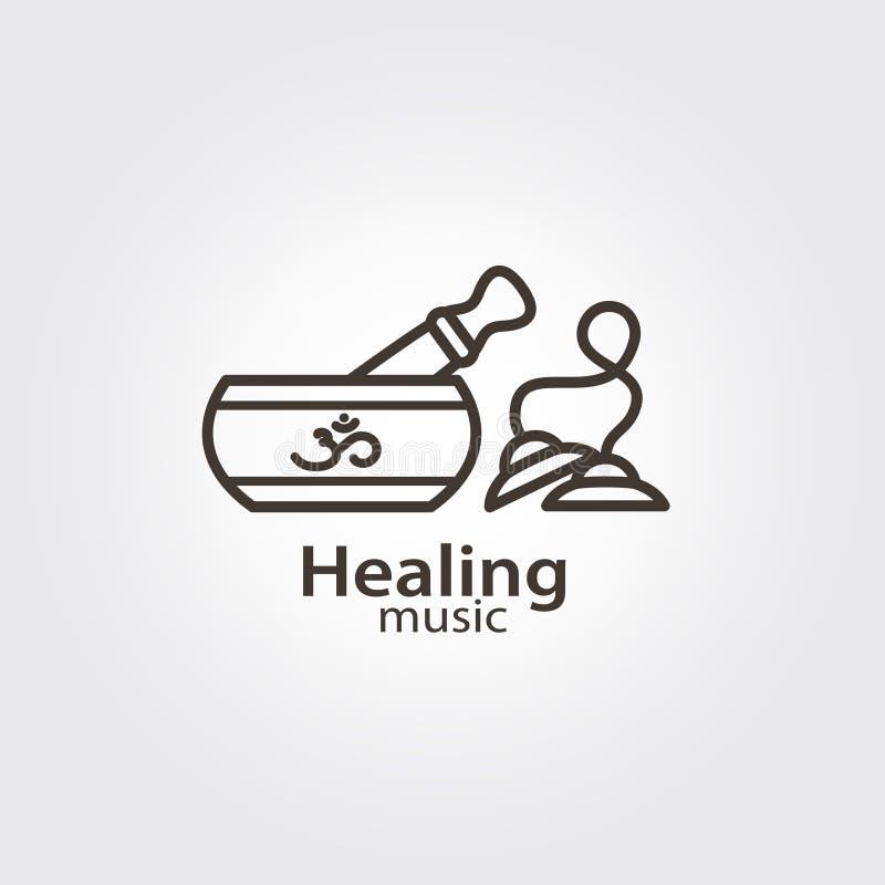 Lecznicza muzyka - loga szablon royalty ilustracja