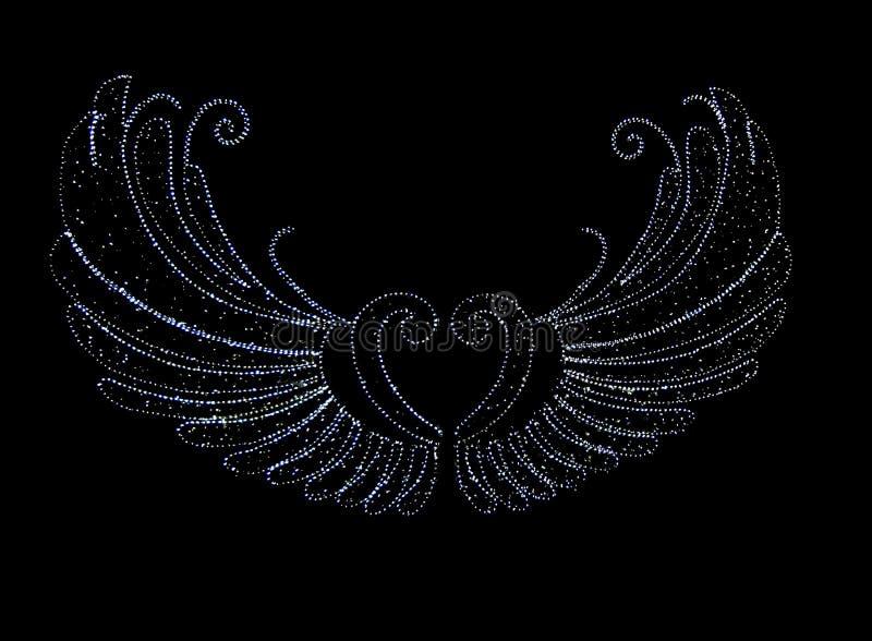 LED光天使翼 免版税库存图片