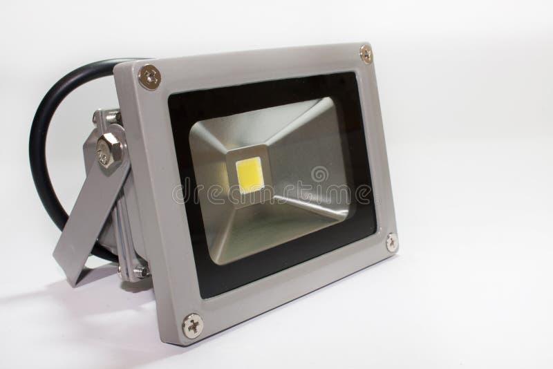 LED反射器在金属房子里 免版税图库摄影