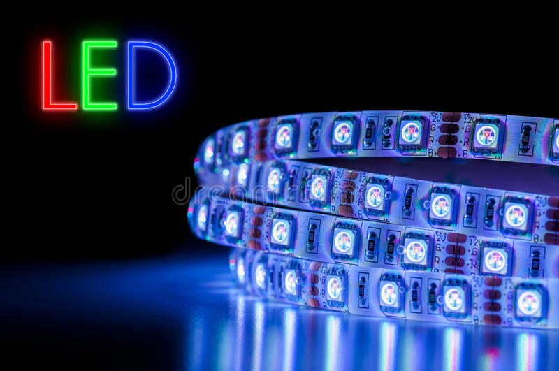 LED小条Licht Streifen 图库摄影