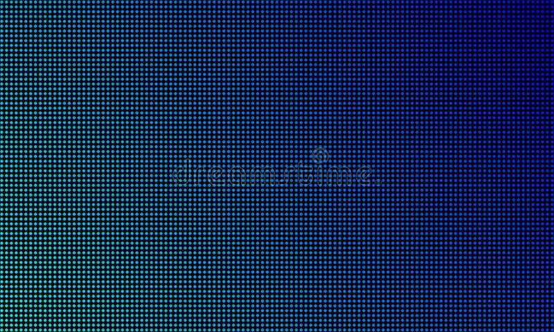 LED录影墙壁屏幕纹理背景 传染媒介蓝色轻的LED梯度,数字录影屏幕 皇族释放例证