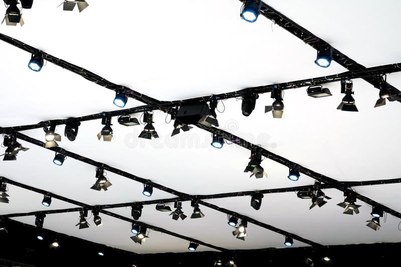 LED打标准数阶段或陈列的照明设备 库存图片