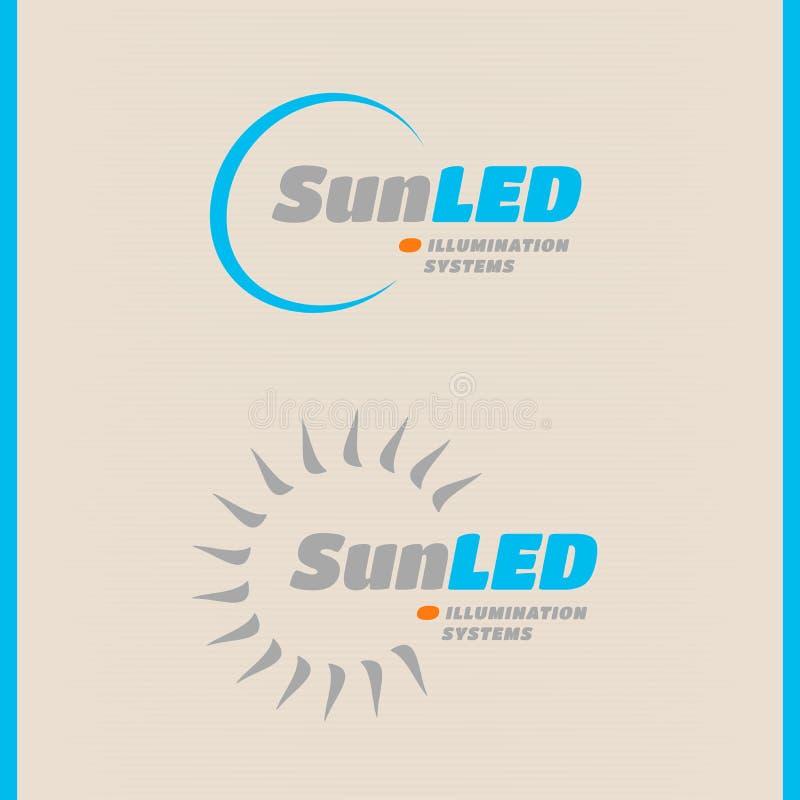 LED技术标志,带光线环绕 皇族释放例证