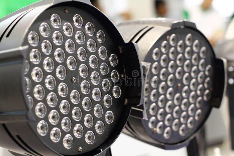 LED斑点光的特写镜头图象 免版税库存照片