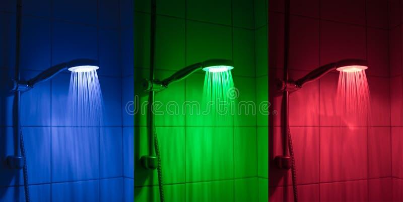 LED淋浴喷头 免版税库存照片