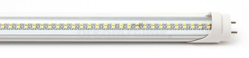 LED灯、小条和聚光灯在白色背景 免版税图库摄影