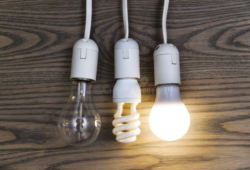 LED灯存金钱 库存图片