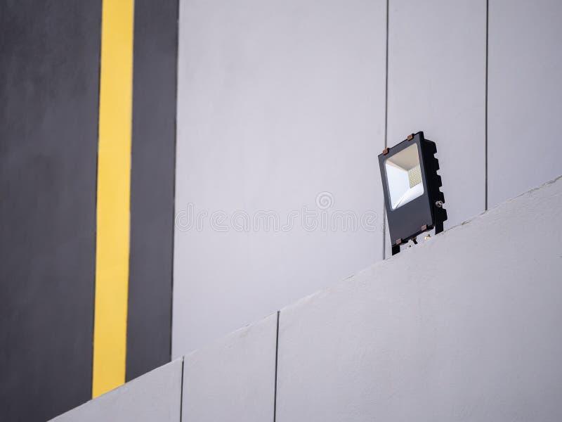 LED领域光边大厦 免版税库存图片