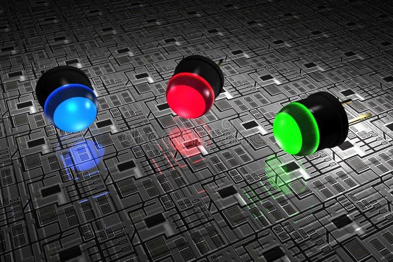 LED ilustración del vector