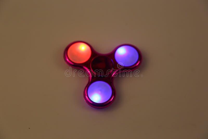 Led beleuchtete Spinner stockfotos